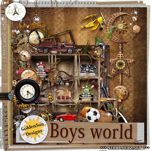 Детский скрап набор для мальчиков - Boys World